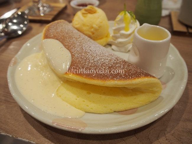 【桃園】ふわっふわのパンケーキ♪Woosaパンケーキ 屋莎鬆餅屋 桃園三越站前店
