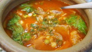 3:トマト好きにはたまらない!甘泉魚麵のトマト牛肉麺